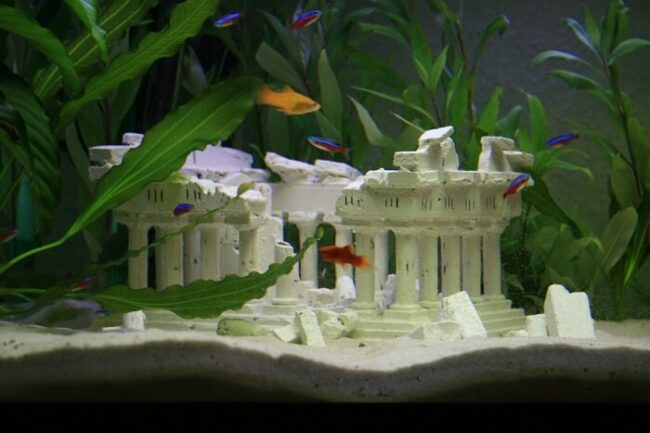 Dekoration Aquarium (Versunkene Stadt)